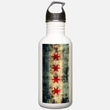 Chicago Flag Grunge Ga Water Bottle