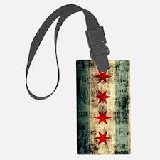Chicago Flag Grunge Galaxy Note Luggage Tag