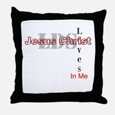 LDS Jesus Christ Lives In Me Throw Pillow