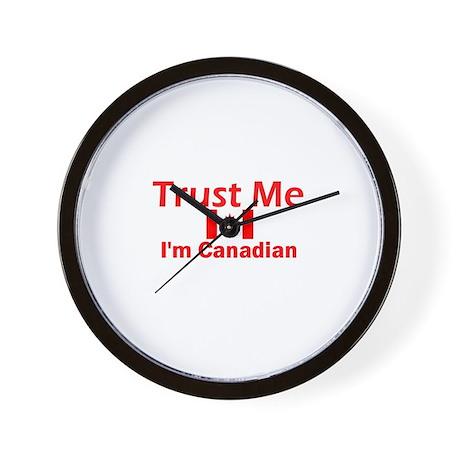 Trust Me I'm Canadian Wall Clock