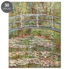 Monet Bridge over a pond of Water Lillies Puzzle