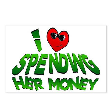 spending her money2 Postcards (Package of 8)