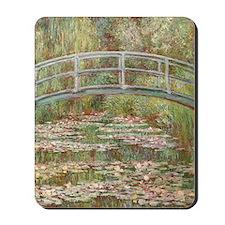 Monet Bridge over a pond of Water Lillie Mousepad
