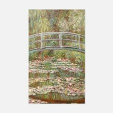 Monet Bridge over a pond of Wa Decal