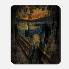 The Scream Grunge Paint iPad Mini Case Mousepad