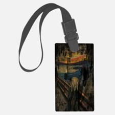 The Scream Grunge Paint iPad Min Luggage Tag
