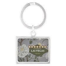Wedding In Las Vegas Landscape Keychain