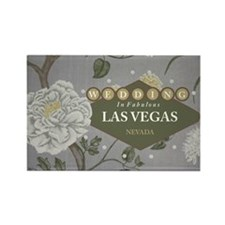 Wedding In Las Vegas Rectangle Magnet