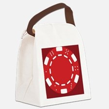 Red Poker Chip Canvas Lunch Bag