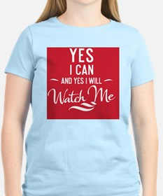 greeting card Yes I can and  T-Shirt