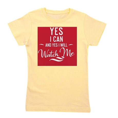 greeting card Yes I can and Yes I will Girl's Tee