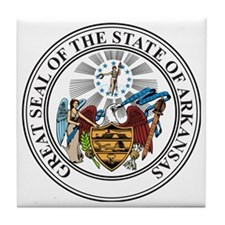 Great Seal of Arkansas Tile Coaster