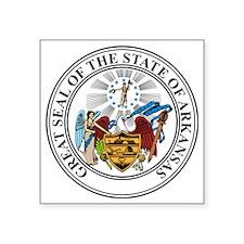 "Great Seal of Arkansas Square Sticker 3"" x 3"""