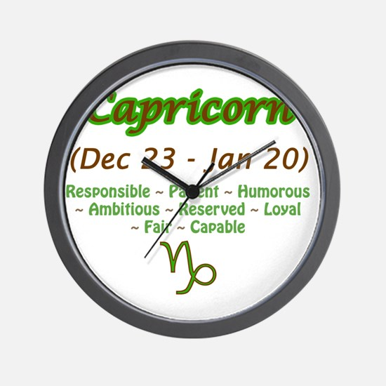 Capricorn Description Wall Clock