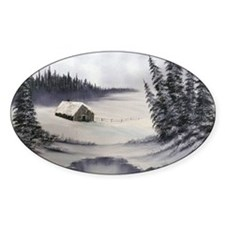 Snowbound Cabin Decal