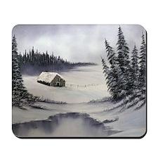 Snowbound Cabin Mousepad