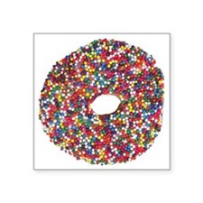 """Sprinkles Donut Square Sticker 3"""" x 3"""""""