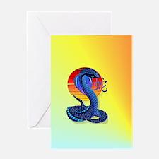 Heart JeweYear Of The Snake and Sun Greeting Card