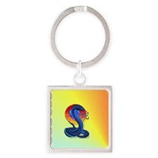 Heart JeweYear Of The Snake and Su Square Keychain