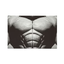 Muscle Torso Rectangle Magnet