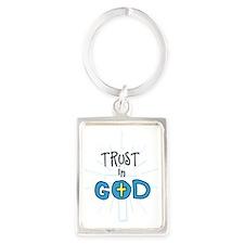 Trust In God Portrait Keychain