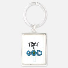 Trust In God Portrait Keychain