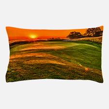 Sunrise over 15 green Pillow Case