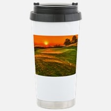 Sunrise over 15 green Stainless Steel Travel Mug