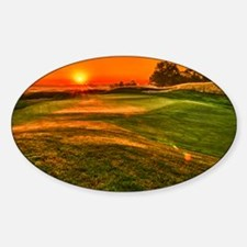 Sunrise over 15 green Decal