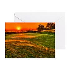 Sunrise over 15 green Greeting Card