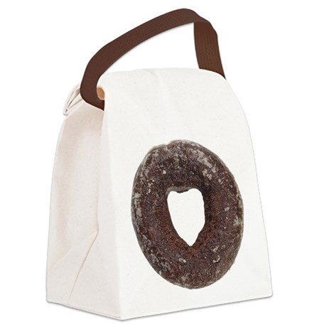 Chocolate Donut Canvas Lunch Bag