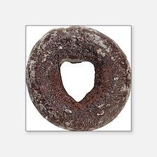 "Chocolate Donut Square Sticker 3"" x 3"""
