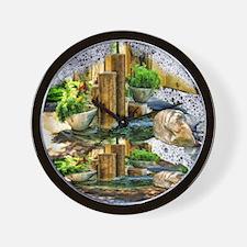 pillar fountains Wall Clock