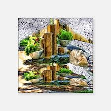 "pillar fountains Square Sticker 3"" x 3"""