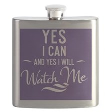 greeting card Yes I can and Yes I will Watch Flask