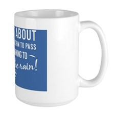 greeting card Life isnt about waiting f Mug