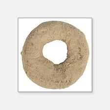 """Cinnamon Donut Square Sticker 3"""" x 3"""""""