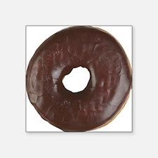 """Chocolate Glazed Donut Square Sticker 3"""" x 3"""""""