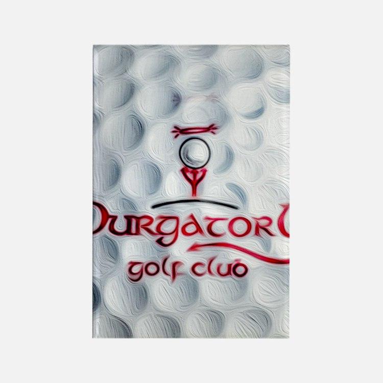 Purgatory Golf Club logo golf bal Rectangle Magnet