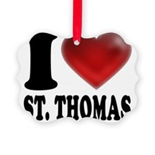 I Heart St. Thomas Ornament