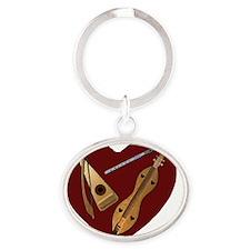 Heart of Music Jewelry Oval Keychain
