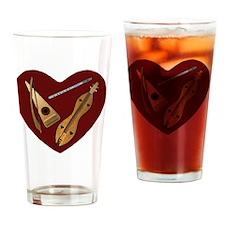 Heart of Music Jewelry Drinking Glass