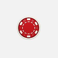 Red Poker Chip Mini Button