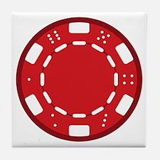 Red Poker Chip Tile Coaster
