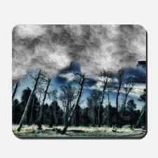 blue mystery forest Mousepad