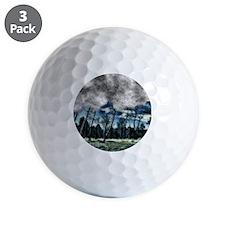 blue mystery forest Golf Ball