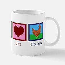 Peace Love Chickens Mug