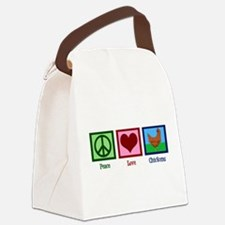 Peace Love Chickens Canvas Lunch Bag