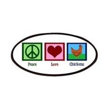 Peace Love Chickens Patches