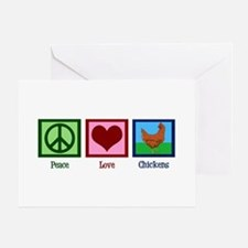 Peace Love Chickens Greeting Card